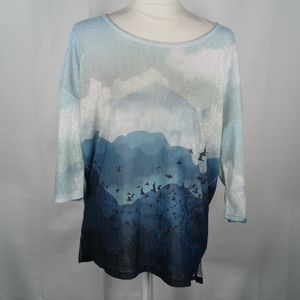 French Dressing blue Mountain top M NEW 6154